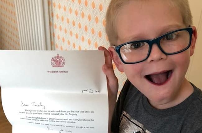 Seven-year-old boy sends Queen a word search