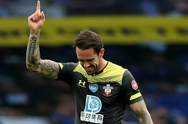 Danny Ings scores his 19th goal of the season at Everton