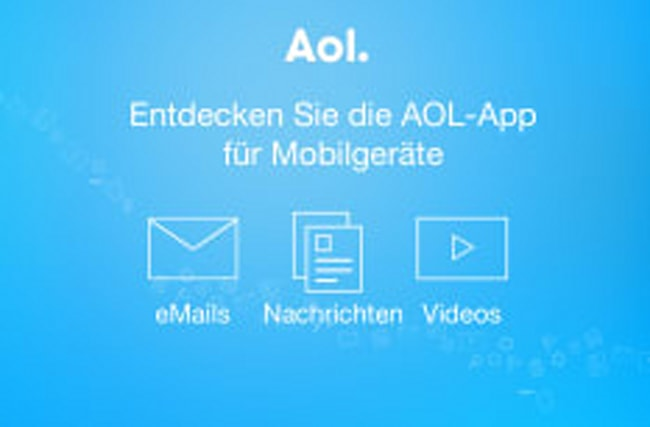 AOL für unterwegs: eMails, News und Videos in der App