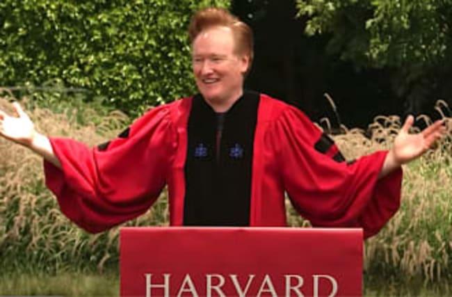 Conan O'Brien Zings Trump In Harvard Commencement Speech