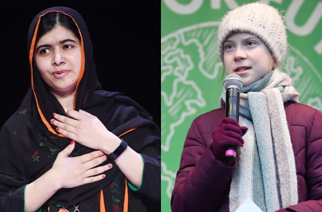 Greta Thunberg meets 'role model' Malala Yousafzai