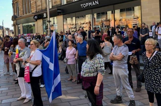 Hundreds protest in Glasgow against Boris Johnson