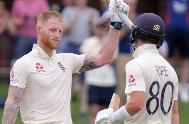Pope and Stokes bat England into dominant position