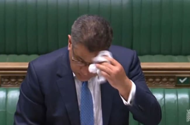 Business Secretary tested after appearing ill in Commons