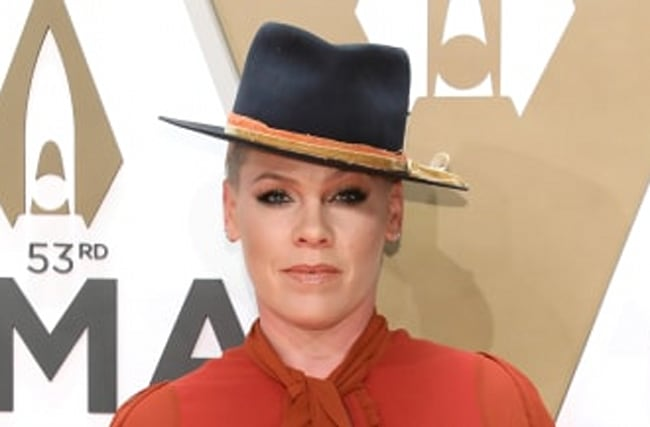 Pink Uses Quarantine Time To Give Herself A Haircut After Drinking
