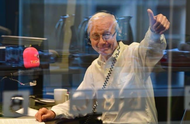 Dame Edna helps John Humphrys final broadcast