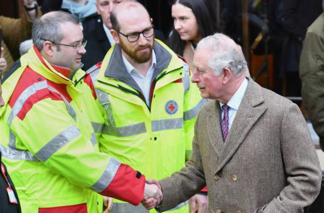 Charles hears of devastation in flood-hit South Wales