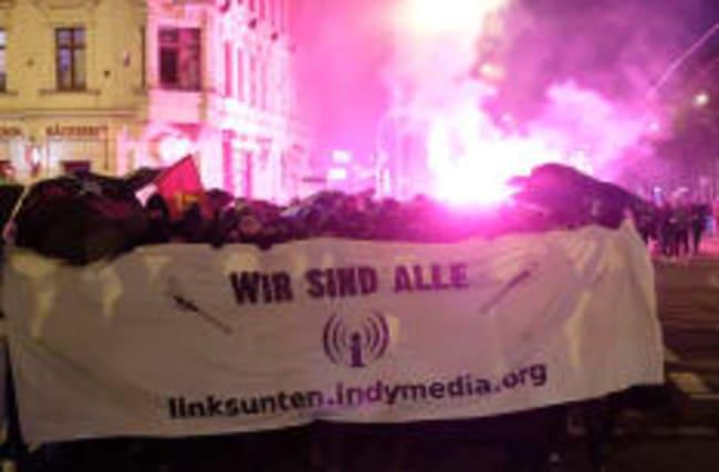 Demo in Leipzig: Für die Polizei regnete es Steine und Böller
