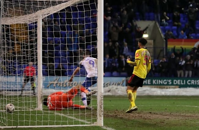 Tranmere upset Watford to earn Manchester United tie