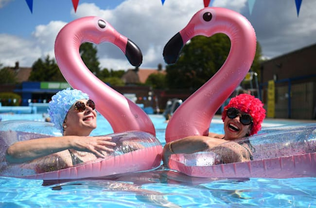 In Pictures: Lido lovers back as outdoor pools reopen