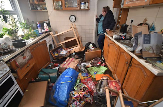 In Pictures: Residents survey damage after Storm Dennis