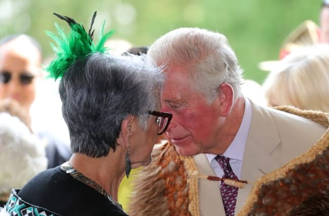 In Pictures: Royal couple enjoy traditional tribal greetings