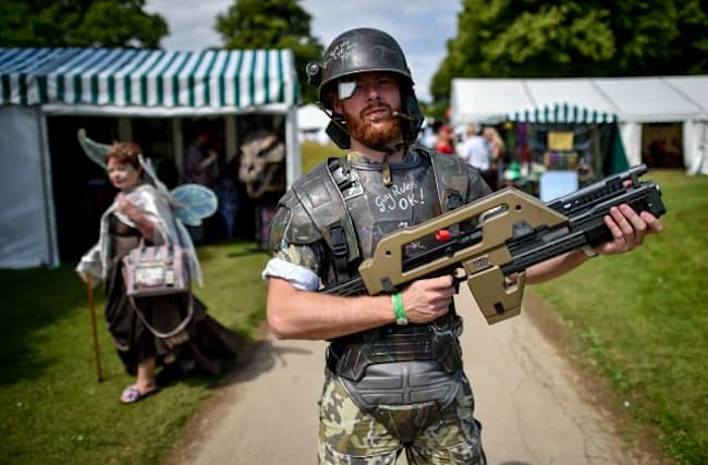 In pictures: Stately home turns steampunk for event