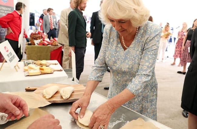Camilla wins praise for pasty-making skills from star chef