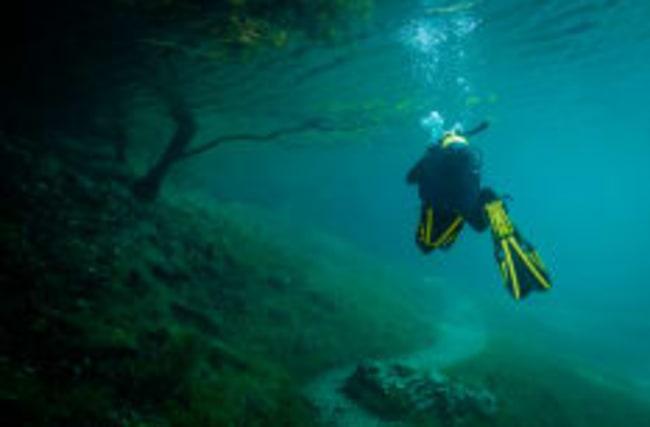 Unterwasserpark mitten in der Steiermark