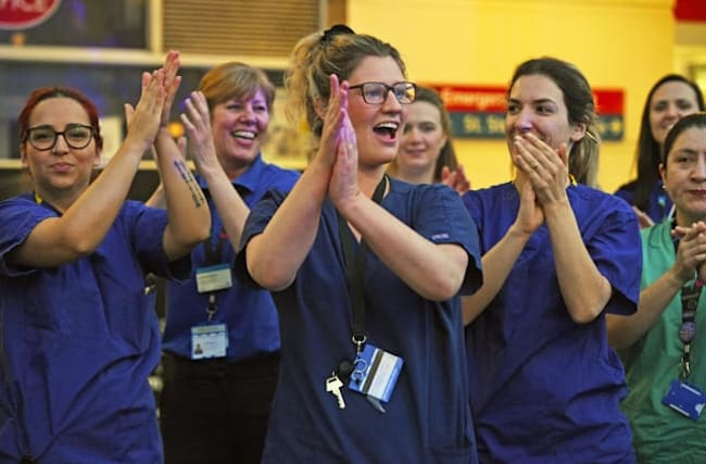 Nation comes together again to applaud NHS staff