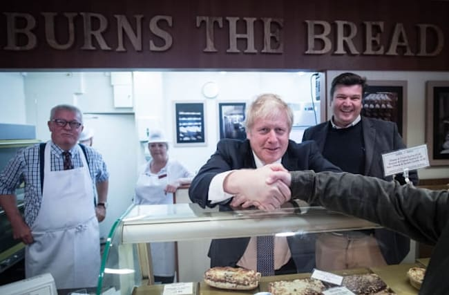 There were lots of crusties there, says Boris Johnson