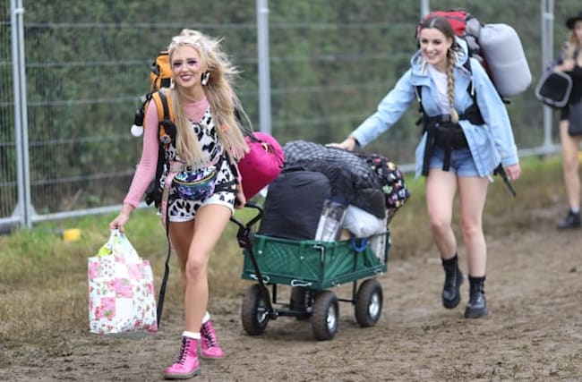 Music fans set up camp as gates open at Glastonbury Festival