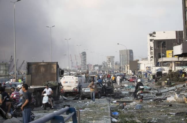 Massive blast rips through Beirut, killing 50 and injuring thousands