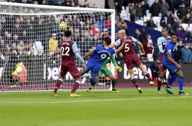 Calvert-Lewin denies West Ham as Everton claim draw