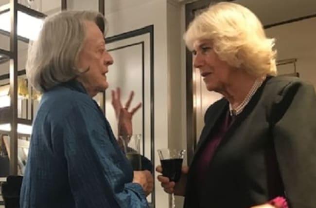 Camilla jokes about men taking female acting parts