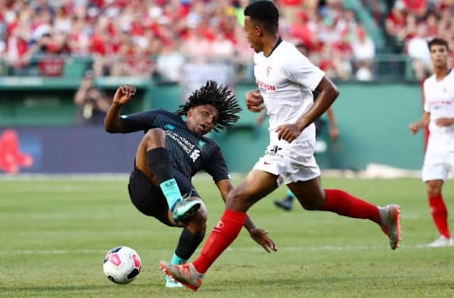 Liverpool's friendly with Sevilla marred by horror tackle