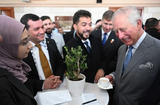 Charles wishes Palestinians 'freedom, justice and equality'
