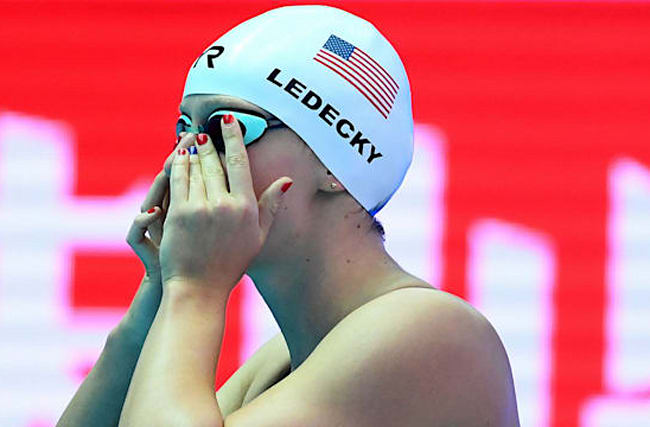 Ledecky withdraws from world championships event due to illness