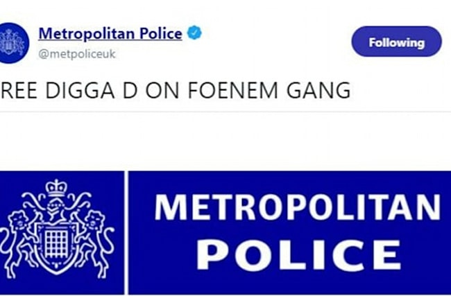 Met Police official Twitter page hacked