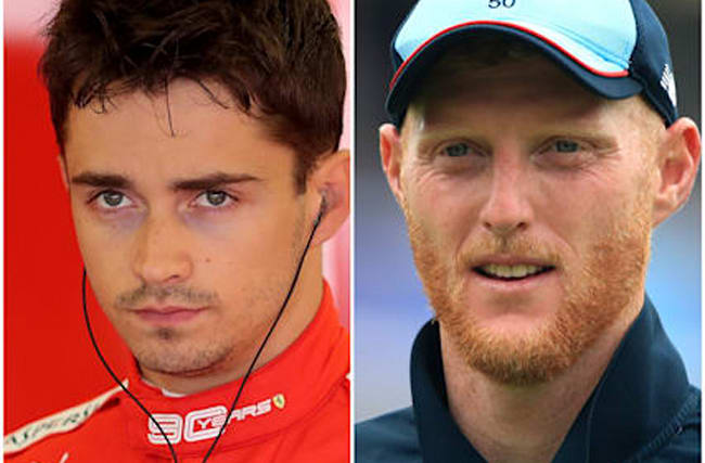 Charles Leclerc wins virtual F1 race as Ben Stokes takes a spin