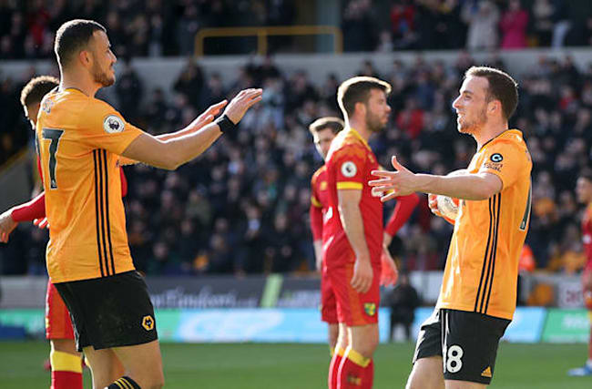 Nuno hails 'clinical' Diogo Jota as Wolves ease past struggling Norwich