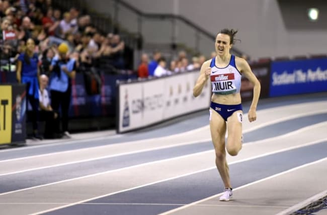 Laura Muir happy with her form after disrupted winter