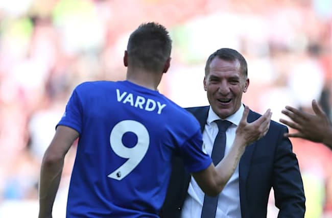 Vardy deserves place in 100-goal club, says Leicester boss Rodgers