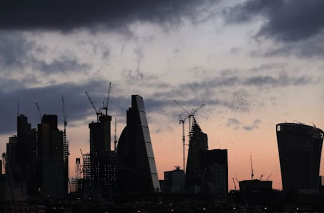 London markets slump as industry data points to UK recession