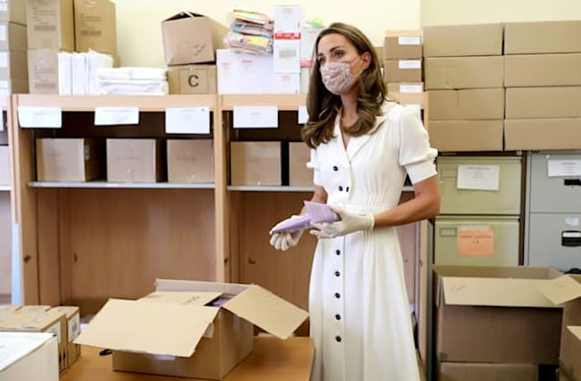 In Pictures: Duchess of Cambridge helps out at baby charity