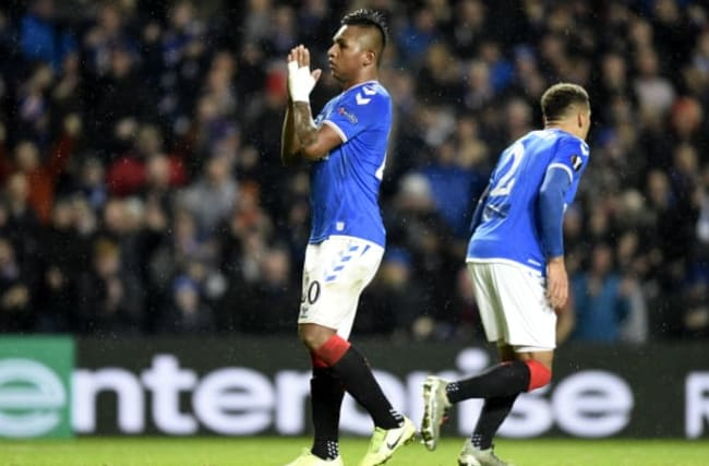 Redemption for Morelos as striker leads Rangers into last 32 of Europa League
