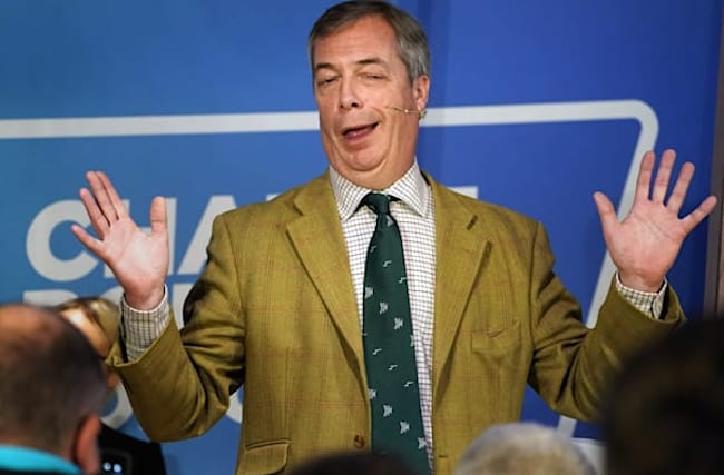 Nigel Farage avoids Brexit Party rally after MEP walkout