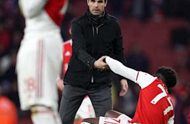 The kids are alright, insists Arsenal boss Arteta