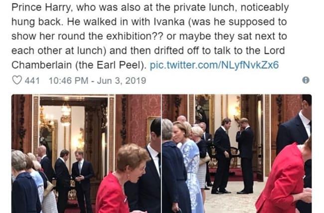 ヘンリー王子、訪英中のトランプ米大統領一家と距離をとる