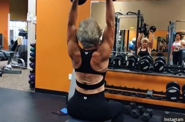劇的なダイエットを成功させた、筋肉ムキムキのおばあちゃんがインスタで話題