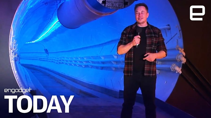 Elon Musk's first tunnel meant bumpy rides in modded Teslas   Engadget Today