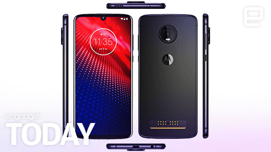 Leaked Moto Z4 pics show it's keeping the headphone jack and Moto Mods | Engadget Today