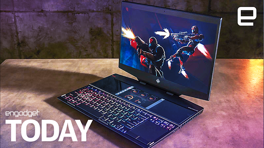 HP's new Omen gaming laptop packs two screens  | Engadget Today