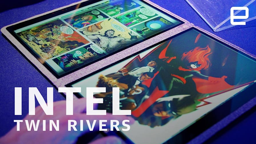 Intel Twin Rivers dual-screen prototype Hands-On at Computex 2019