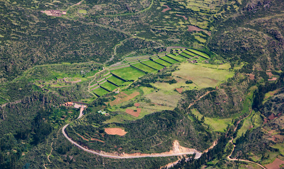 Tipón, is an early 15th-century Inca construction consisting of agricultural terraces irrigated by a network of water channels. It is situated at 3,400 meters above sea level, 22 kilometers southeast of Cusco.