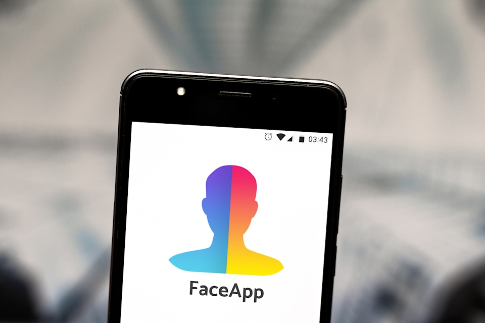 BRAZIL - 2019/07/24: In this photo illustration a FaceApp logo seen displayed on a smartphone. (Photo Illustration by Rafael Henrique/SOPA Images/LightRocket via Getty Images)