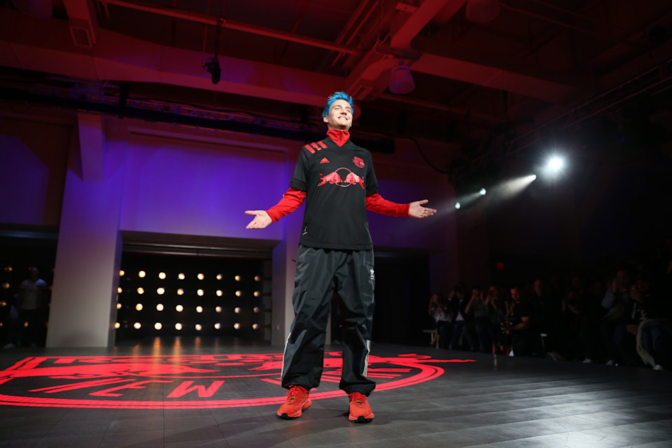 NEW YORK, NEW YORK - FEBRUARY 05: Tyler Blevins walks the runway during the unveiling of the MLS/Adidas 2020 Club Jersey's at Penn Plaza Pavilion on February 05, 2020 in New York City. (Photo by Michael Owens/Getty Images)