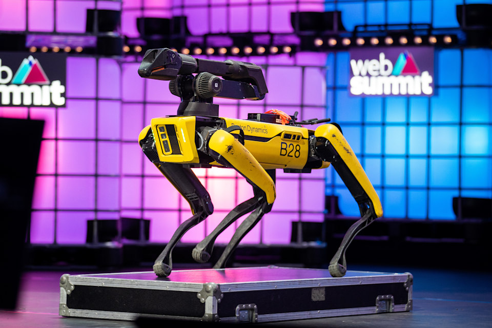 LISBON, PORTUGAL - 2019/11/07: Spot, the robot made by Boston Dynamics seen during the annual Web Summit technology conference in Lisbon. (Photo by Henrique Casinhas/SOPA Images/LightRocket via Getty Images)