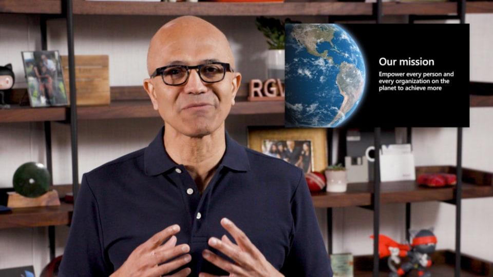 Microsoft Build 2020 Satya Nadella opening speech