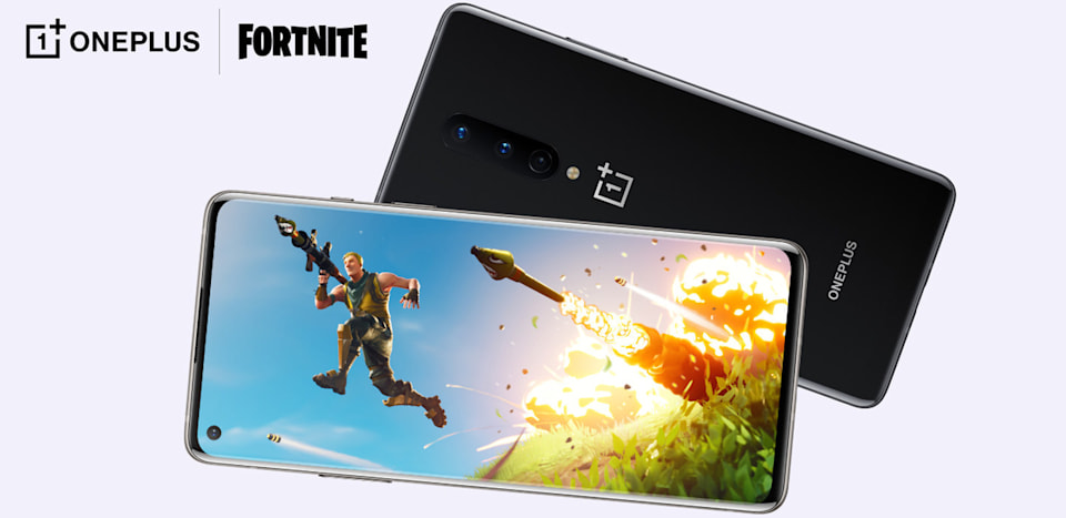 'Fortnite' on OnePlus 8 phone